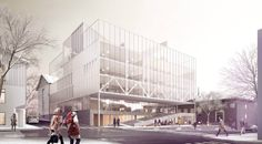 Bodø City Hall by Transborder Studio City Hall Architecture, Architecture Design, 3d Max, Town Hall, Fair Grounds, Street View, Exterior, Studio, World