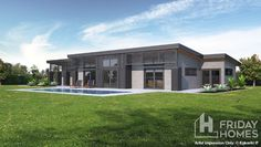 Get started with our architectural and modern house plans - Horrell Construction Modern House Floor Plans, Dream House Plans, Smart Home Design, Modern House Design, Building Exterior, Building A House, Modern Architecture Design, Architecture Student, Architectural House Plans