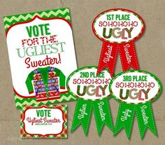 Ugly Sweater Contest Award Template - Invitation Samples Blog