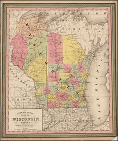 A New Map of the State of Wisconsin . . . - Barry Lawrence Ruderman Antique Maps Inc.