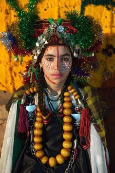 A young Saghro berber bride, who has removed her veil on the third day of her wedding ceremonies, Morocco (©Claude Lammel)