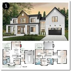 39 most popular dream house exterior design ideas 33 - Traumhaus Sims 4 House Plans, Modern House Floor Plans, Dream House Plans, Modern House Design, Modern Home Plans, Home Floor Plans, House Plans Mansion, Two Story House Plans, Layouts Casa