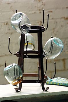 forged iron glass dryer | iron cup rack $55.