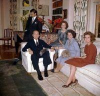 Greek Royal Family:  King Paul, Prince Constantine, Princess Irene, Queen Frederika, Princess Sophia