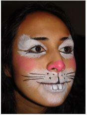 Bunny Rabbit Face Painting Design—Face Painting Tips Shop