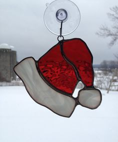 Handmade Stained Glass Santa's Hat by QTSG on Etsy