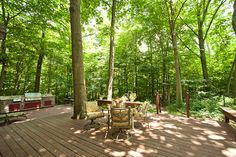 deck in the woods - Google Search