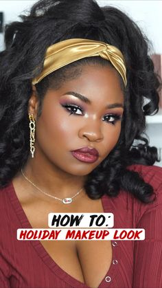 Black Girl Makeup, Girls Makeup, Makeup Tips, Beauty Makeup, Hair Beauty, Holiday Makeup Looks, Christmas Makeup, Tips Belleza, Celebrity Look
