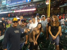 Freeman's Corporate Account Sales Team enjoying time together for #OTCHouston night at the #Astros game! #FreemanCo #TrueBlue