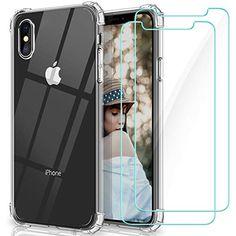 IPhone XR (Pack 2 en 1) Coque Gel Souple incassable résistant Antichoc 2 Films Protections écran en Verre trempé Transparent
