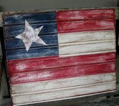DIY Beadboard Flag of July} If you are looking for a great project to create patriotic decor, this is perfect! Using a piece of white beadboard from your… Patriotic Crafts, July Crafts, Patriotic Decorations, Summer Crafts, Holiday Crafts, Holiday Ideas, Patriotic Party, Summer Fun, Western Decorations