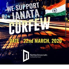 """We pledge to strictly follow """"Janta Curfew"""" this Sunday so that we can encourage our Nation's fight against COVID-19. This will bring us together, and we'll stand strong as a nation at this critical time by self-isolating ourselves at home. #FightagainstCorona #Stayathome #Staysafe #selfisolation #socialdistancing #ourpledgetosafety Deep Impact, Stand Strong, Digital Marketing Services, Encouragement, Self, Bring It On, Sunday, Social Media, Staying Strong"""