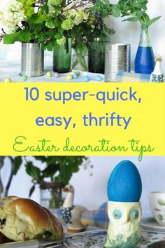 10 quick, easy Easter decorating ideas - recycle bottles and tins, use vintage china, dye Easter eggs and find Easter decorating inspiration in the garden Vintage Garden Parties, Easter Garden, Garden Party Decorations, Easter Egg Dye, Recycled Bottles, Vintage China, Organic Gardening, Fruit, Easy