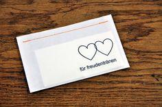 10 Freudentränen-Taschentücher doppelHERZ