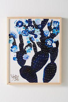 Starla Michelle Halfmann Indigo Cacti Wall Art