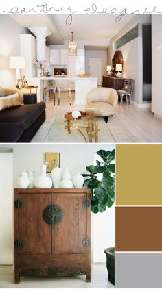 Home decor with Earth tones. Love the simplicity and feel of this living space.