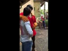 This Guy Challenged Gaston To A Push-Up Contest At Disney World And Got Absolutely Schooled
