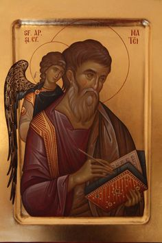 L'image contient peut-être : 2 personnes Byzantine Art, Byzantine Icons, Religious Icons, Religious Art, Faith Of Our Fathers, Greek Icons, Angel Drawing, Archangel Gabriel, Russian Icons