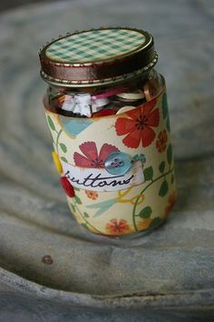 reuse a glass baby food jar