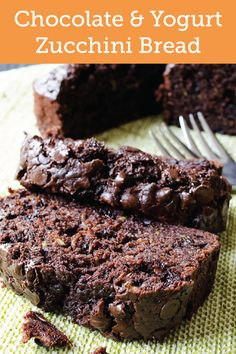 With a delicious ingredient of fresh zucchini, this recipe for Chocolate and Yogurt Zucchini Bread is a wonderful choice to enjoy as a sweet treat to end your day!