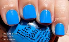 Finger Paints Inkblot Blue Nail Polish. Pretty bright color for spring and summer!