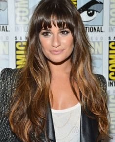 Brunette with Caramel Highlights | Lea Michele Rocks Caramel Highlights