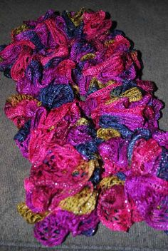 Crochet Scarf Pattern With Red Heart Sashay : Sashay Yarn on Pinterest Ruffle Yarn, Sashay Scarf and ...