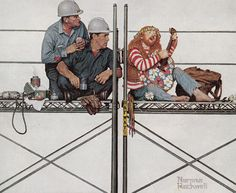 Youve Got To Be Kidding, art by Norman Rockwell. Detail from 1972 ATO ad.