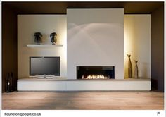 Incredible Contemporary Fireplace Design Ideas Best Pictures) 06 - Fireplaces - Home Modern Fireplace Decor, Contemporary Fireplace Designs, Linear Fireplace, Home Fireplace, Fireplace Surrounds, Contemporary Interior, Fireplace Ideas, Modern Fireplaces, Contemporary Office