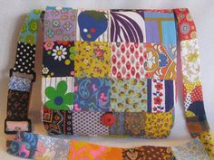 Vintage fabrics patchwork prints/60's and 70's by BohoRain on Etsy, $34.00