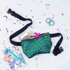 """Mermaid Glitter Party Bum Bag (Fanny Pack)Want to bring some sparkle to the festive season and have your hands free for disco dancing? Well we can make that dream come true with our new glitter bum bags. Available in two sizes: Classic perfect for holding your cash,keys, phone and lipstick. Measuring approximately 8""""x 5"""" with an adjustable strap up to 46 inches in length. afflink"""