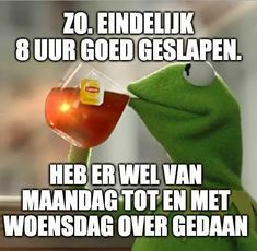Dutch Quotes, Kermit The Frog, Sarcasm, Funny Quotes, Lol, Sayings, Memes, Instagram Posts, Karma
