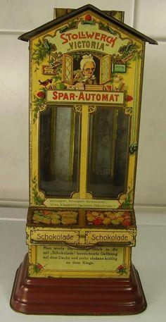 Antiker Stollwerck Spar Automat Schokolade Blech vor 1945 | eBay