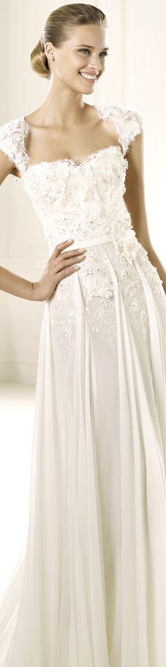 "Here's another style for sleeves...  Elie by Elie Saab wedding dress ""Galant"", 2013 Collections."