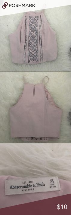 Abercrombie & Fitch Cami Top Authentic / Abercrombie / Never Worn In Perfect Condition / Size XS / Pink With Blue Detailing / Button On Back And Zipper On The Side / Mid Length                  Tags : Brandy Melville Forever 21 Juicy Couture Love Culture American Apparel Fashion Nova Crop Top Summer Top Cami Top Abercrombie & Fitch Tops Camisoles