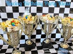 racing trophy birthday party favor