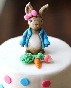 Fondant Girl Bunny Rabbit Cake Topper