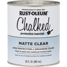 Rustoleum Chalked topcoat
