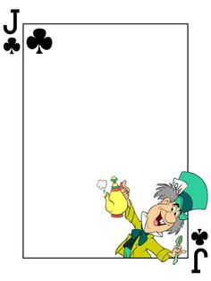 "Journal Card - Mad Hatter - Alice in Wonderland - Playing Card.  Adjust width to 8"" and height to 10.667"" and the image will fit nicely onto A4 paper."