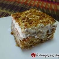 Μηλόπιτα ψυγείου με κρέμα και μπισκότα Greek Sweets, Greek Desserts, Greek Recipes, Desert Recipes, Easy Desserts, Sweets Recipes, Cooking Recipes, Custard Cake, Icebox Cake