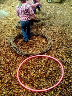 Circles on the ground...simple ways to keep kids active