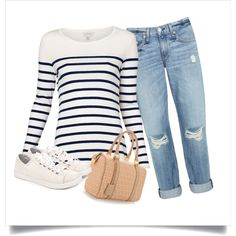 Omg I just made my first outfit on Polyvore & I'm addicted! Love this outfit though for cooler days toward the end of summer :)