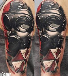Realistic Mask Tattoo by U Gene | Tattoo No. 12465