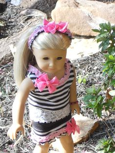 18 Inch American Girl Doll Clothes Splash of Pink by TCsTreasures