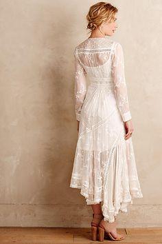 Arcana vestido de seda - anthropologie.com