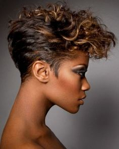 girls fro hawk hairstyle