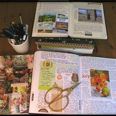 The Artist's Way journalling en collages