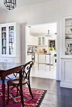 Love the area rug & the kitchen.  danielle oakey interiors: Bohemian Home Tour