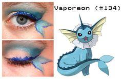 Pokemakeup 134 Vaporeon by ~nazzara on deviantART