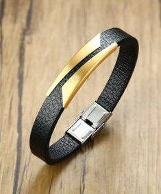 DENER Unsex Hand-woven Leather Stainless Steel Magnet Alloy Feather Adjustable Wire Bangle Bracelet